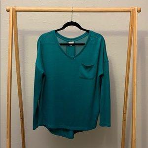 Merona Women's Drop Sleeve Knit Top Green Size M